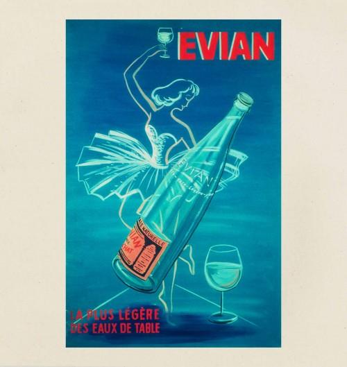 Tote Bag Evian de couleur Crème