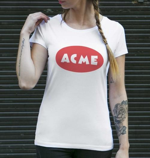 T-shirt pour Femme Femme ACME de couleur Blanc