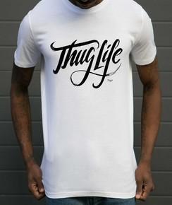 T-shirt à col rond Thug Life par Flowhynot