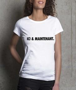 T-shirt à col rond Femme Ici & Maintenant