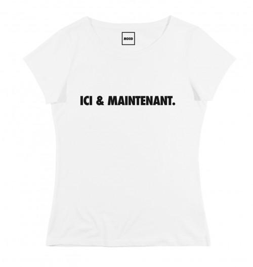 T-shirt pour Femme Femme Ici & Maintenant de couleur Blanc