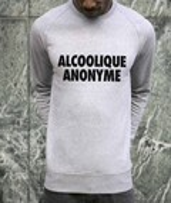 Sweat 85% coton bio / 15% polyester Alcoolique Anonyme