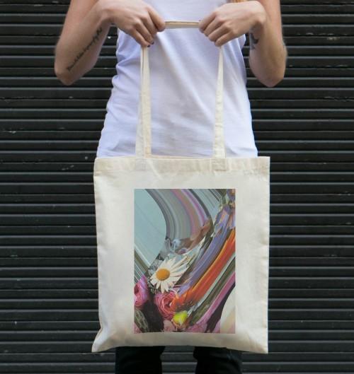 Tote Bag Flora de couleur Crème