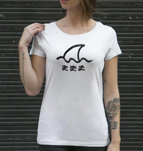 T-shirt pour Femme Femme Same de couleur Beige chiné