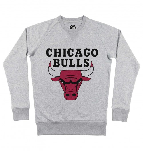 Sweat pour Homme Chicago Bulls de couleur Gris chiné