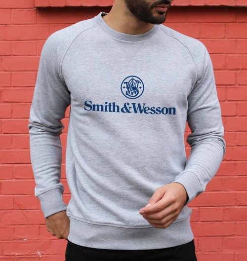 Sweat pour Homme Smith & Wesson de couleur Gris chiné