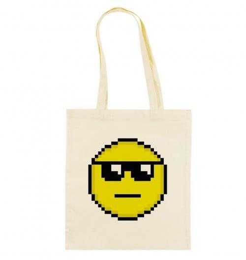 Tote Bag Smiley Soleil de couleur Crème