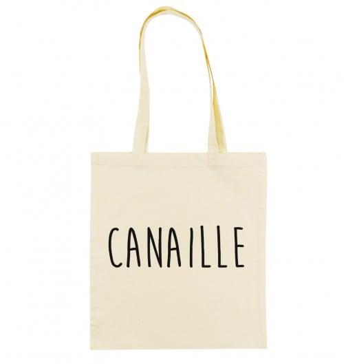 Tote Bag Canaille de couleur Crème