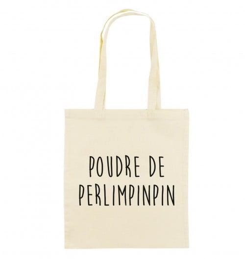 Tote Bag Poudre De Perlimpinpin de couleur Crème