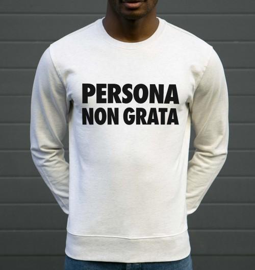 Sweat Persona Non Grata pour Homme de couleur Beige chiné