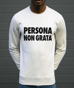 Sweat Persona Non Grata 85% coton bio / 15% polyester