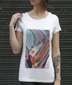 T-shirt à col rond Femme Flora par Aecho