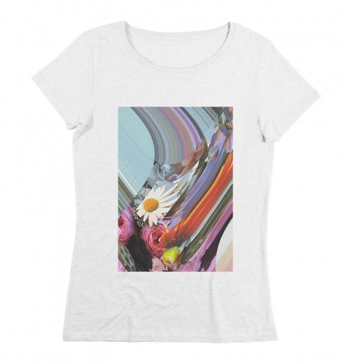 T-shirt pour Femme Femme Flora de couleur Blanc