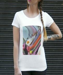 Détail T-shirt Femme Flora Numérique