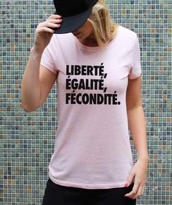 T-shirt à col rond Femme Liberté, Egalité, Fécondité