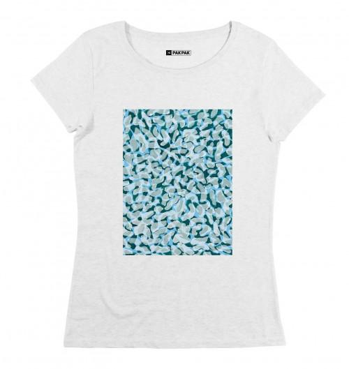 T-shirt pour Femme Femme Bactéries de couleur Blanc