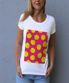 T-shirt à col rond Femme Citrons