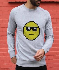 Sweat à col rond Pixel Smiley Soleil