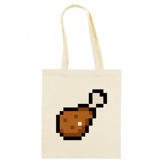 Tote Bag Pixel Chicken