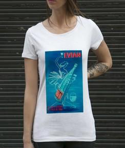 T-shirt à col rond Femme Evian