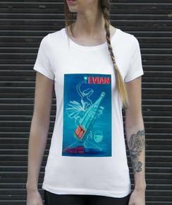 Détail T-shirt Femme Evian Numérique