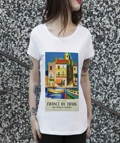 T-shirt 100% coton bio Femme France By Train