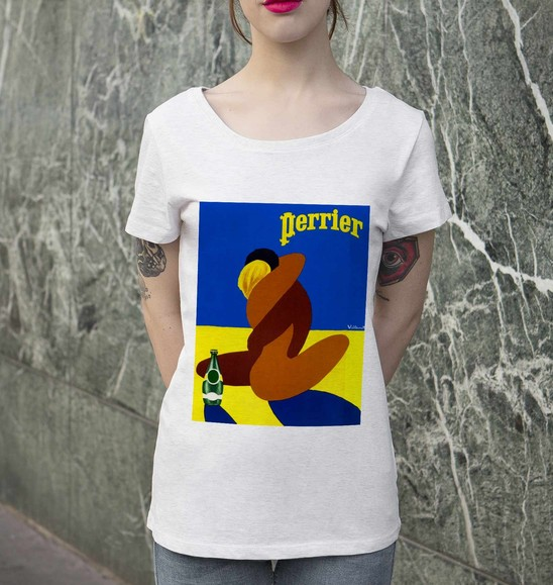 T-shirt pour Femme Femme Perrier Villemot de couleur Blanc