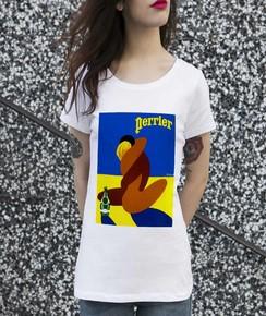 Détail T-shirt Femme Perrier Villemot Numérique
