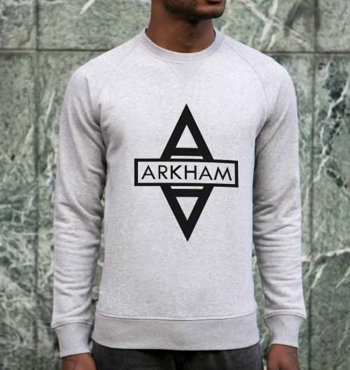 Sweat pour Homme Arkham de couleur Gris chiné