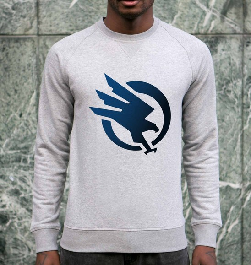 Sweat pour Homme Logo C&C de couleur Gris chiné