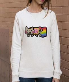 Sweat à col rond Femme Nyan Cat