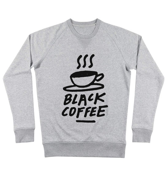 Sweat pour Homme Black Coffee de couleur Gris chiné