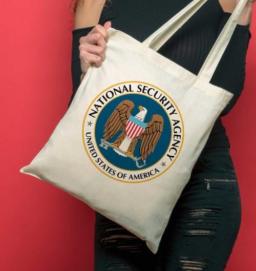 Tote Bag NSA de couleur Crème