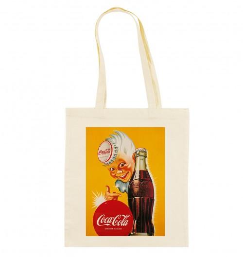 Tote Bag Coca Limonade de couleur Crème