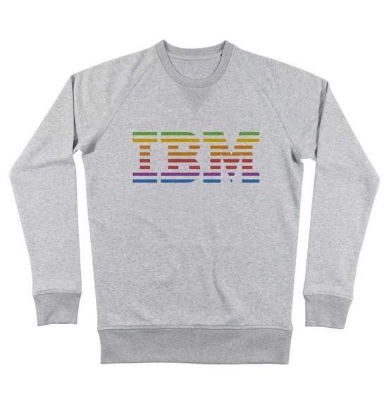 Sweat pour Homme IBM vs. Apple de couleur Gris chiné