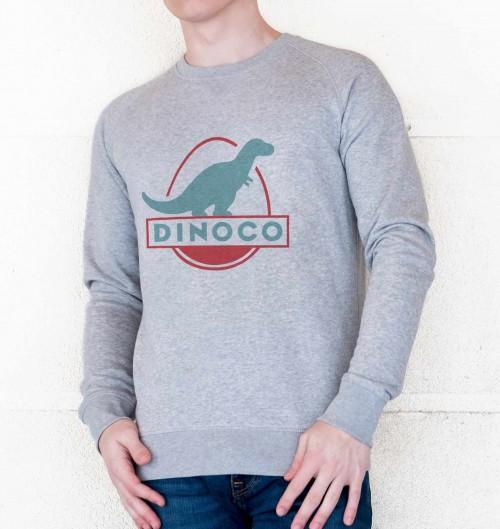Sweat pour Homme Dinoco Cars de couleur Gris chiné