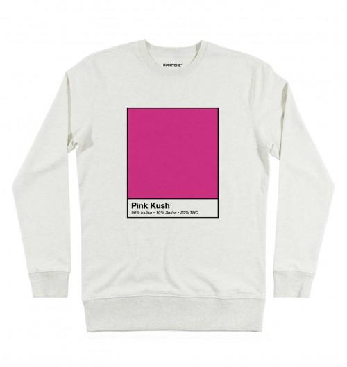Sweat pour Homme Pink Kush de couleur Beige chiné