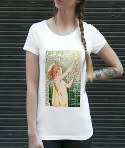 T-shirt à col rond Femme Absinthe Robette