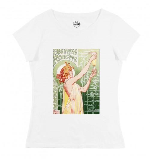 T-shirt pour Femme Femme Absinthe Robette de couleur Blanc