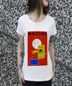 T-shirt à col rond Femme Maïzena