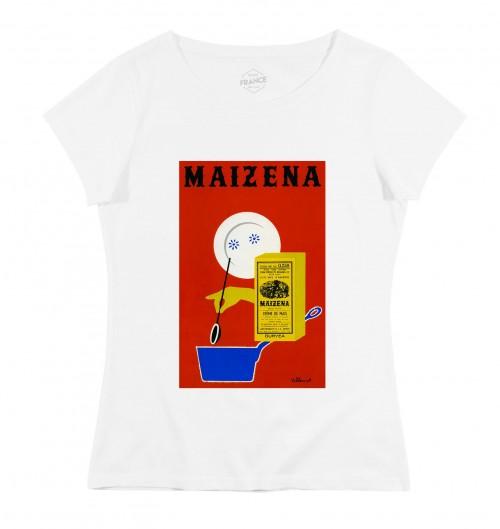 T-shirt pour Femme Femme Maïzena de couleur Blanc