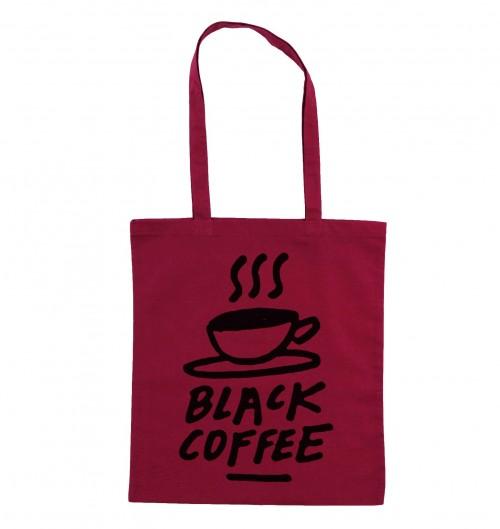 Tote Bag Black Coffee de couleur Cranberry