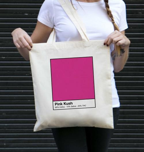 Tote Bag Pink Kush de couleur Crème