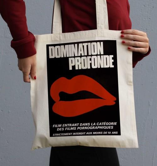 Tote Bag Domination Profonde de couleur Crème