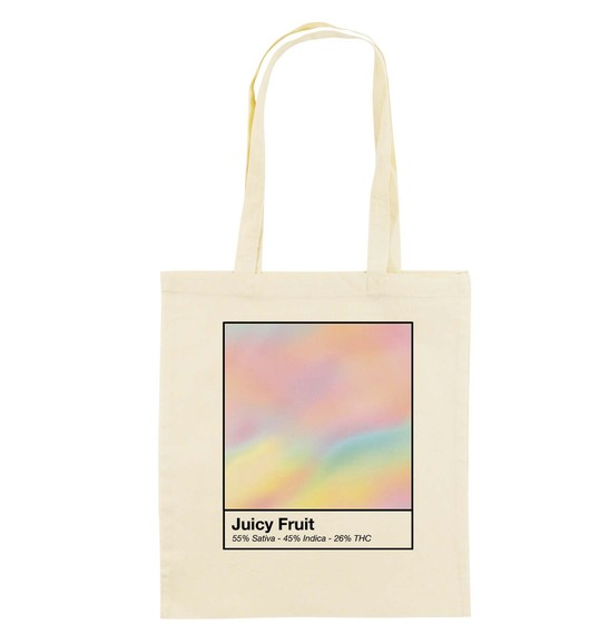 Tote Bag Juicy Fruit de couleur Crème