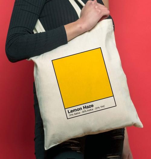 Tote Bag Lemon haze de couleur Crème