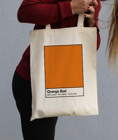 Tote Bag 100% coton Orange Bud