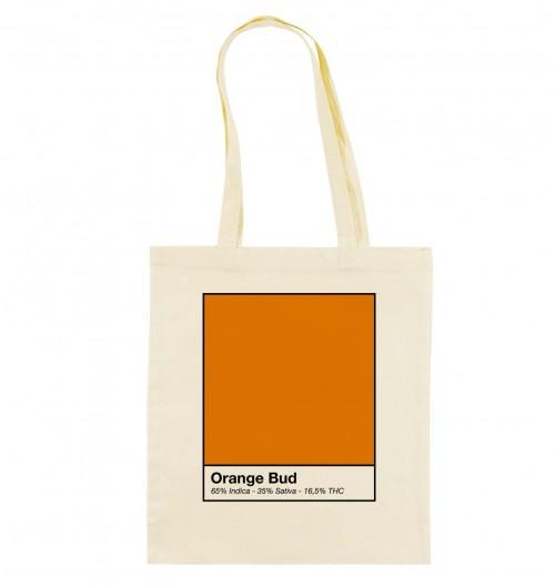 Tote Bag Orange Bud de couleur Crème