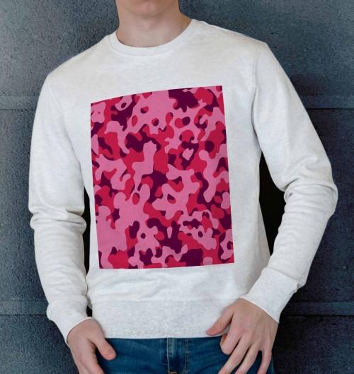 Sweat pour Homme Camo Rose de couleur Beige chiné