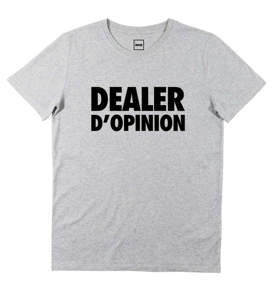 T-shirt pour Homme Dealer D'Opinion de couleur Gris chiné